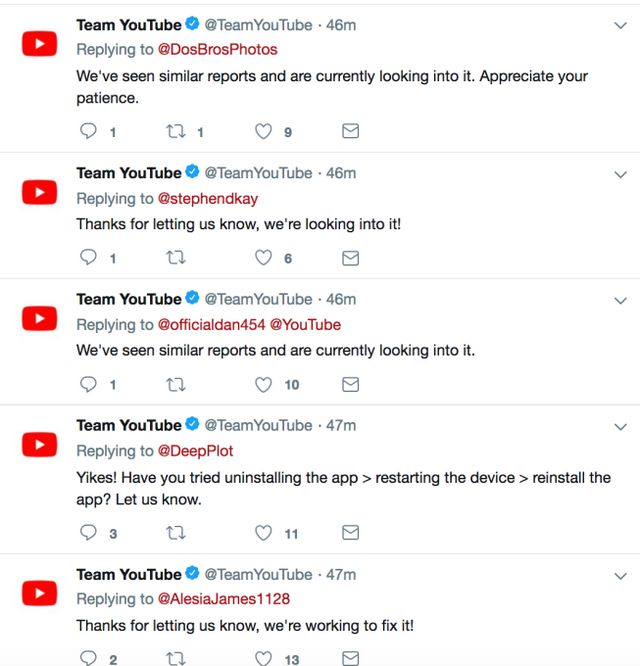 YouTube experiences a major outage lasting for more than an hour