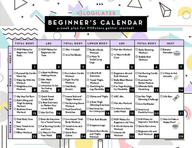 d663d682f69 A 28-Day Workout Calendar for Beginners!