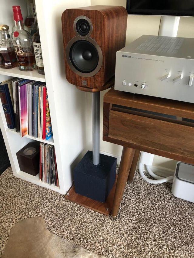 Floor Speaker Stands Made From Ikea Chopping Board Ikea