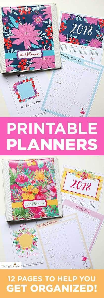 2018 Planner | DIY Printable Planners | I Heart Faces | Bloglovin\'