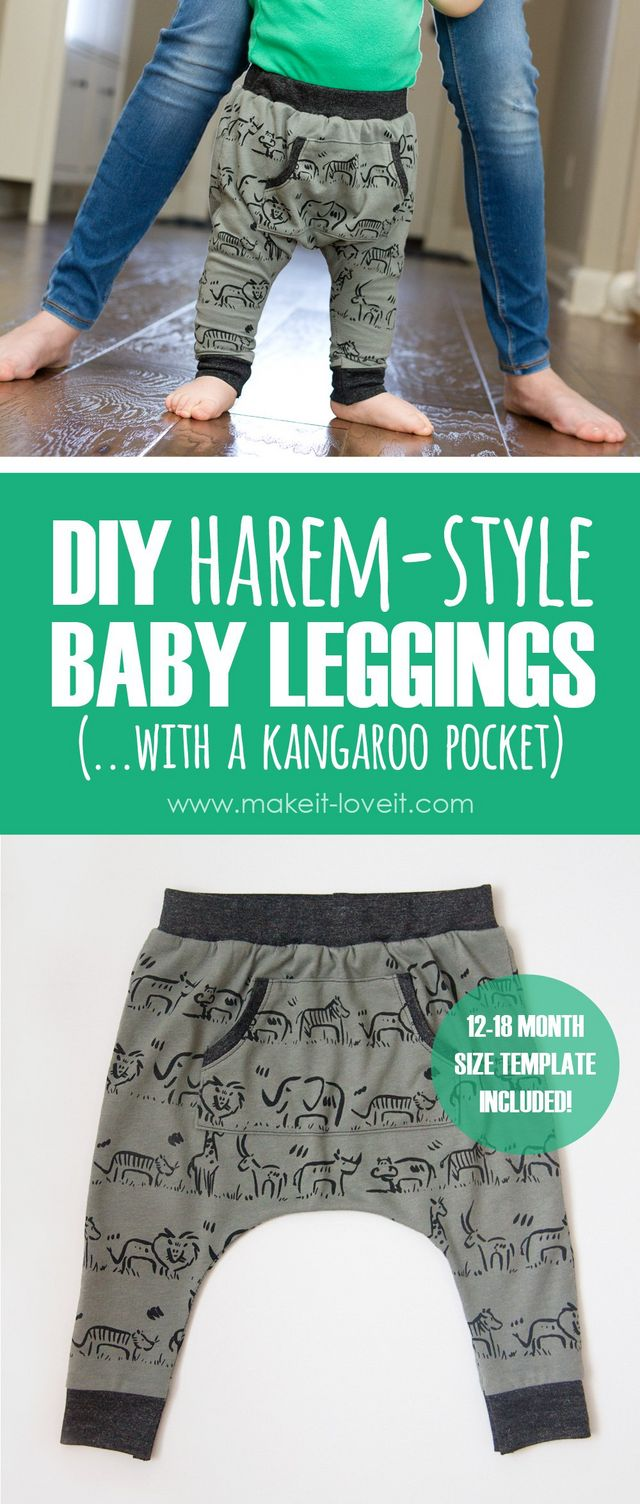 29253f74d DIY Harem-Style Baby Leggings …with a Kangaroo pocket! (template ...
