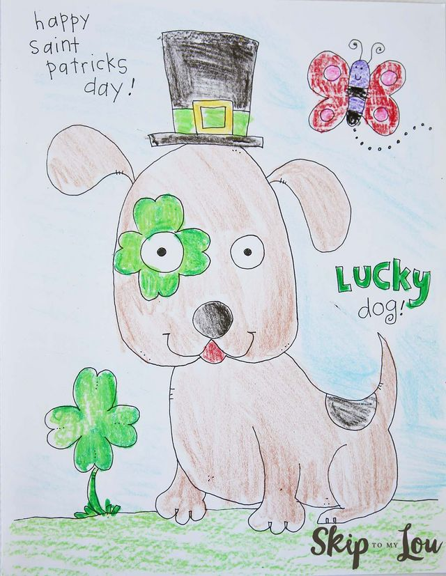 St Patricks Day Coloring Page for Preschoolers | Skip To My Lou