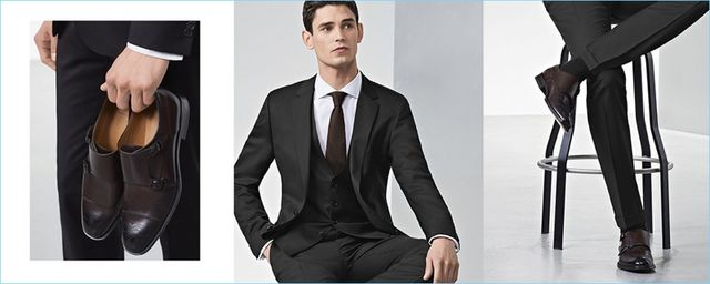 bcad7dea6 Hugo Boss Shows How to Match Suit & Shoe Colors | The Fashionisto ...