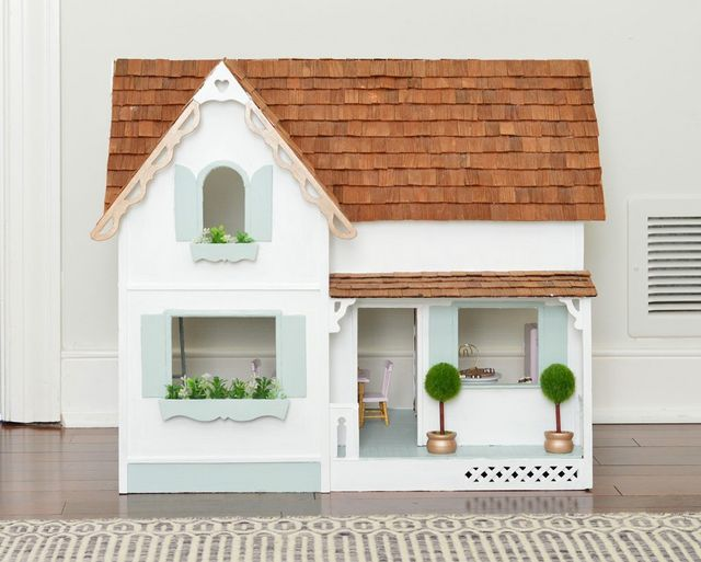 ed4eb4e607934 Oh and that decorative trim around the peak came with the dollhouse, it  just broke off and I re-glued it back on with wood glue (this glue works  great – I ...