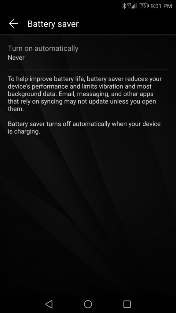 How to Customize the Battery Saver Trigger Percent or Enable