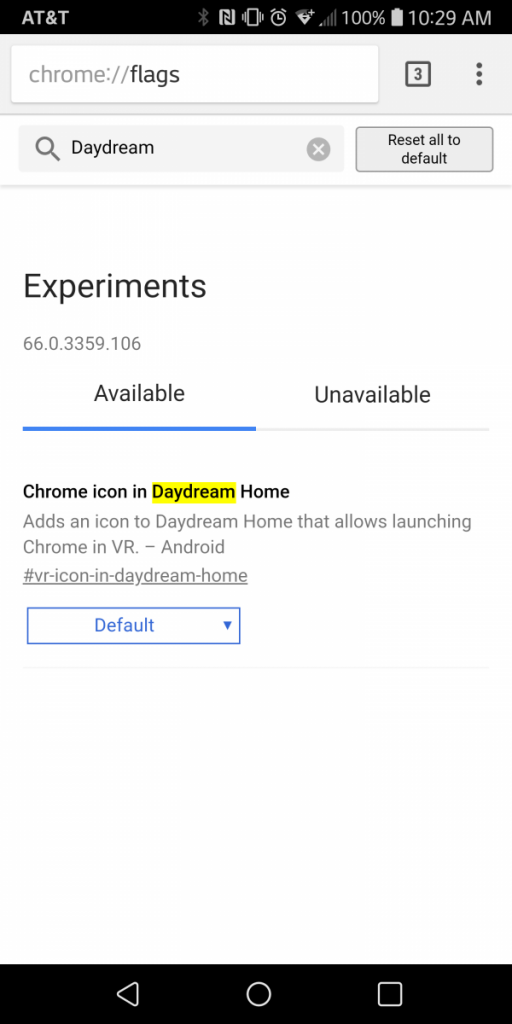Google Chrome stable can now be added to the Daydream VR