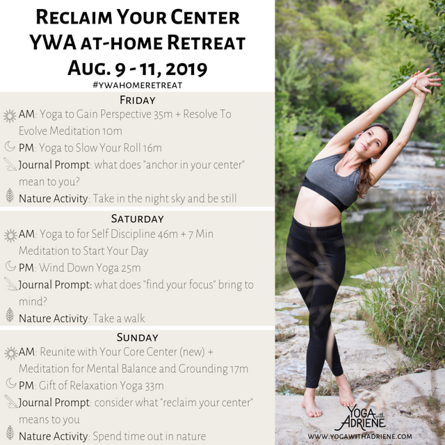 Reclaim Your Center At-home Retreat | Yoga With Adriene