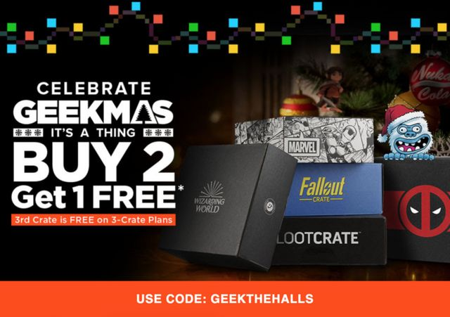f6313c148035 Loot Crate Geekmas Sale – Free Crate With Pre-Paid Subscriptions ...