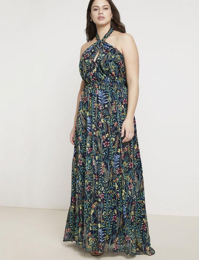cd0e0dc4c0e Jason Wu ELOQUII Halter Maxi Dress