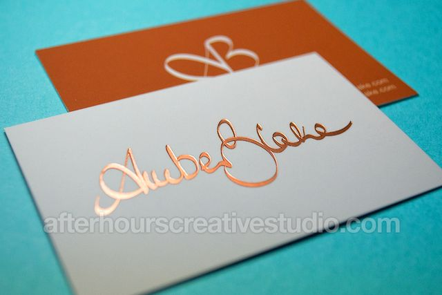 Gold Foil Business Cards Posts By Hourscreative