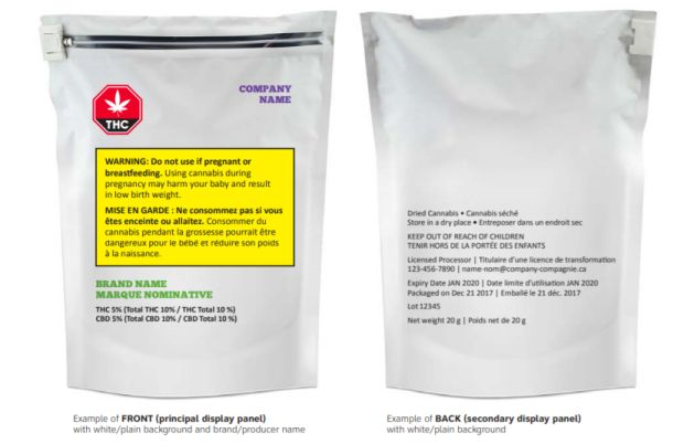 Government confirms marijuana packaging will be plain, with