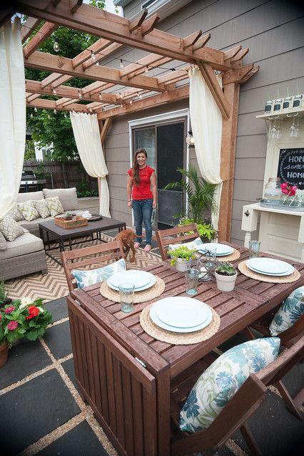 Backyard Makeover With Lowes Brooklyn Limestone Bloglovin