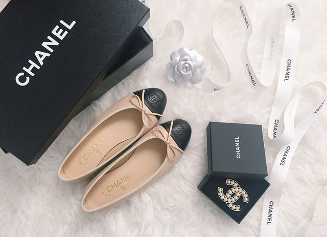 7645d3f19ab0 classic ballet flats pearl brooch from past visits. Other info  Chanel in  France limits what you can purchase per passport