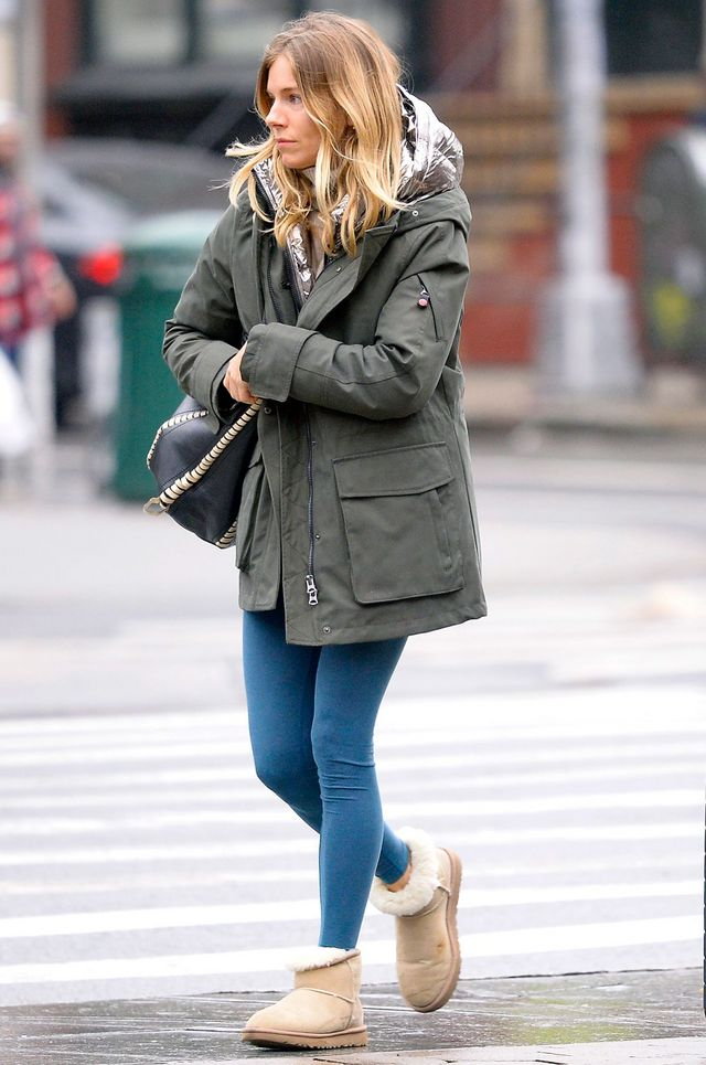 f6795bb8b3d The Sienna Miller Way to Style Ugg Boots With Leggings | WhoWhatWear ...
