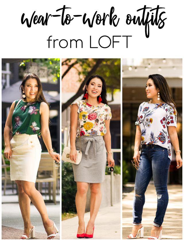26a5606fca 3 Wear To Work Outfits From LOFT | cute & little | Bloglovin'