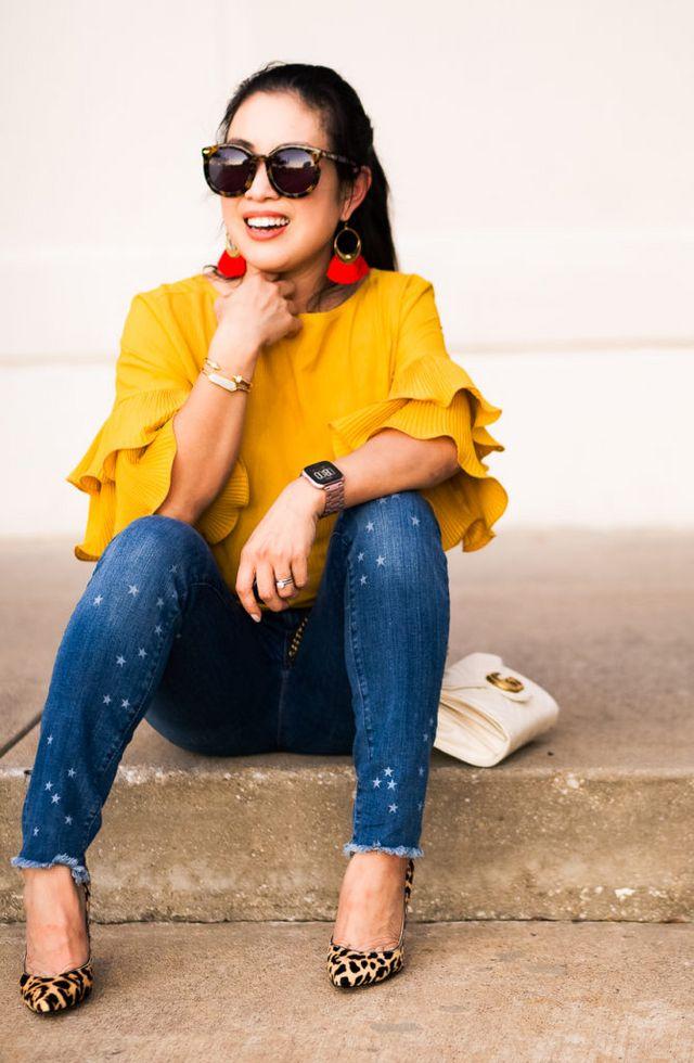da8b1414e4 LOFT Modern Star Frayed Skinny Crop Jeans