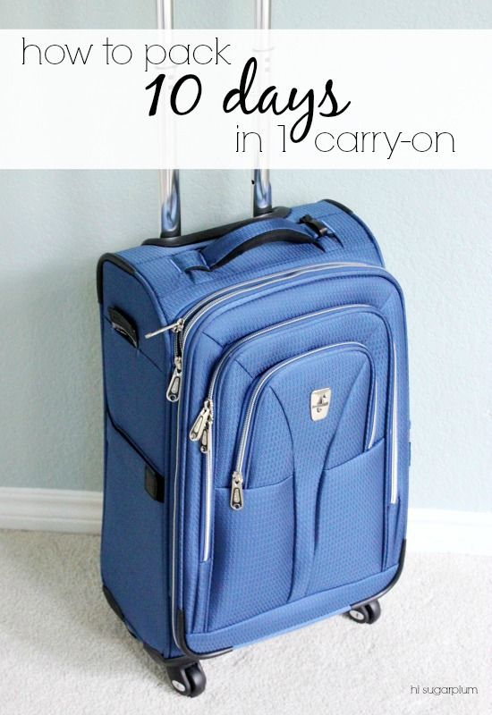062ae7ce62d8 How to Pack 10 Days in 1 Carry-On | Hi Sugarplum! | Bloglovin'
