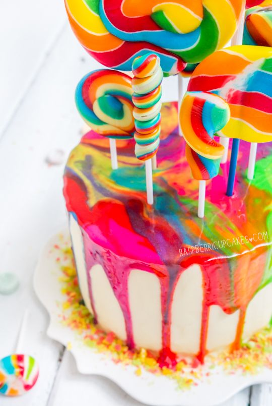 How To Paint A Cake Look Like  Colors