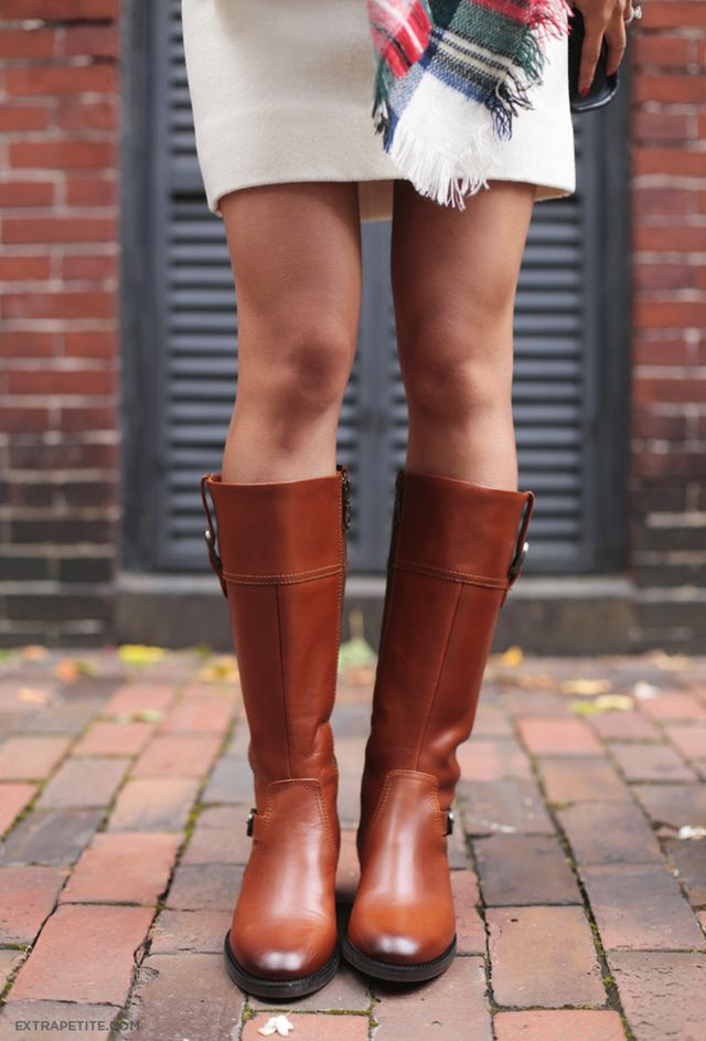 Petite-friendly narrow-calf leather riding boots: Ariat York ...