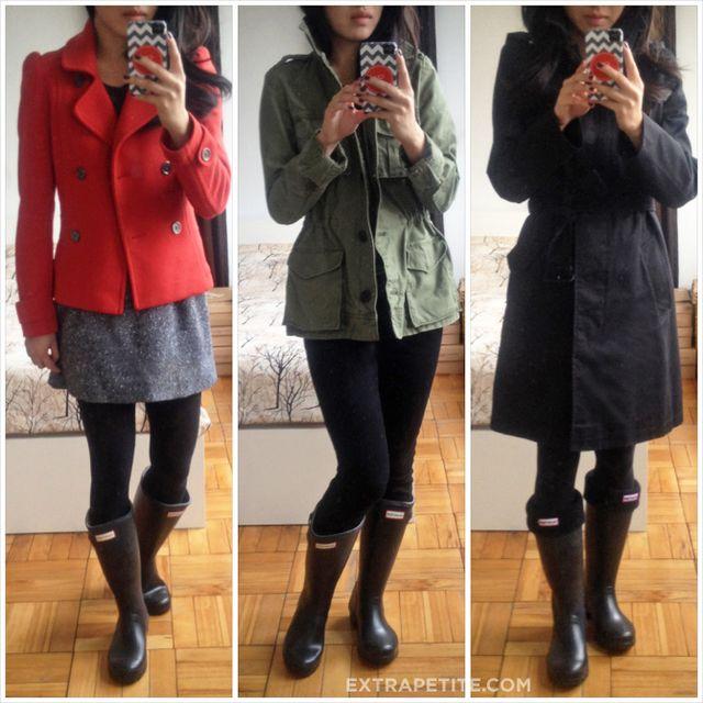 Hunter rain boots for petites review: Womens packable Tour (calf