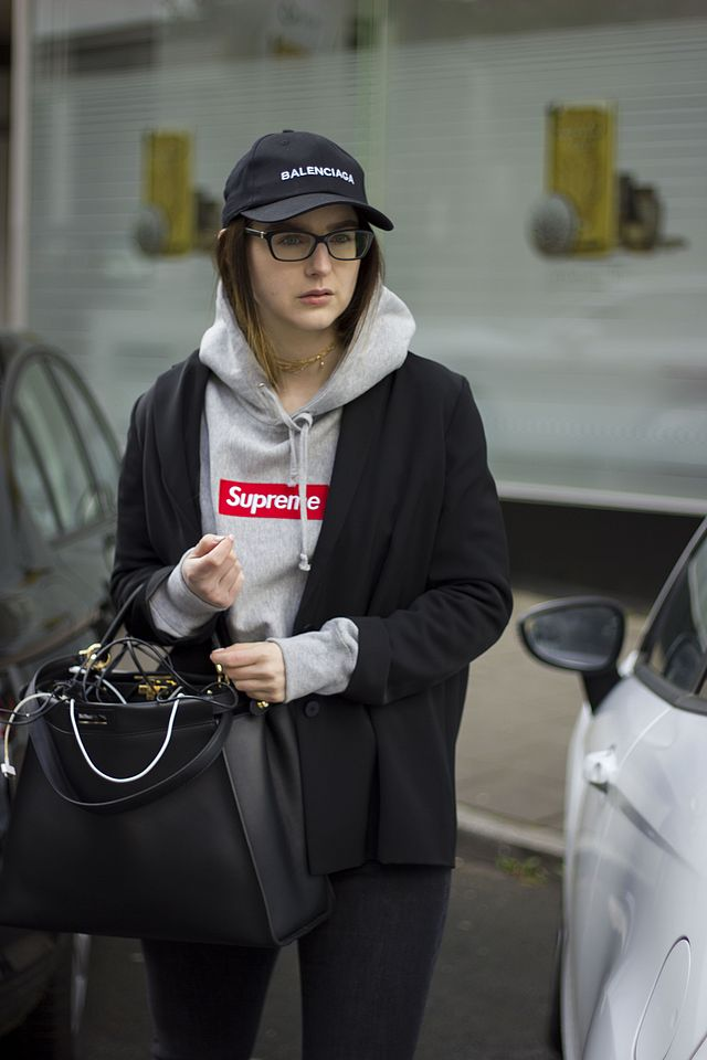 f04f682a007 Outfit of the day  Balenciaga cap   Supreme hoodie