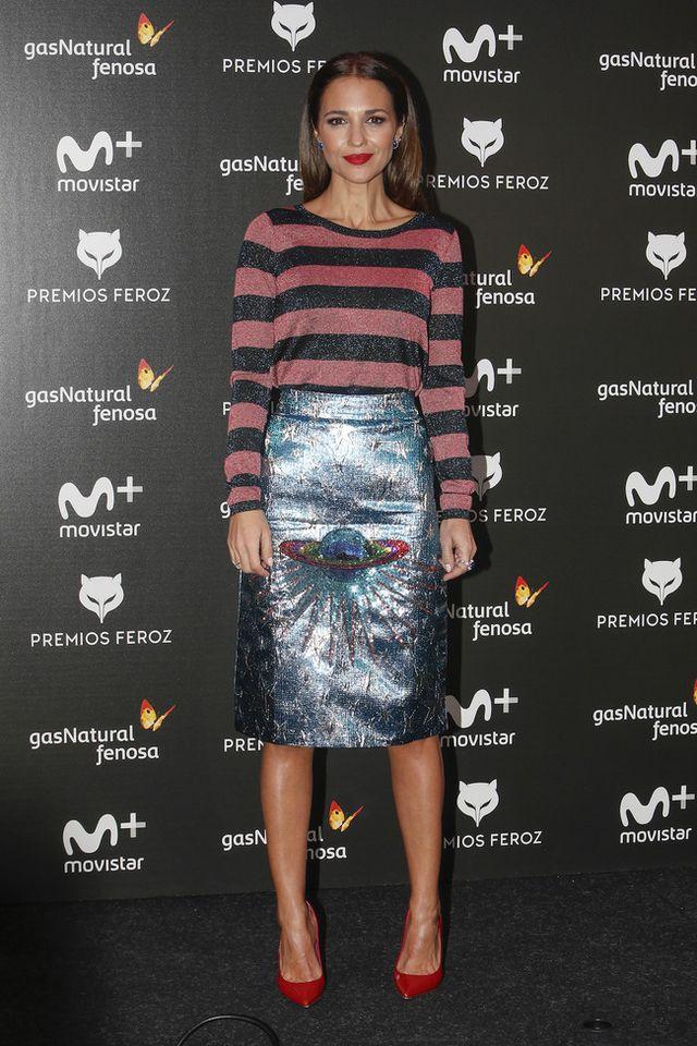 Paula Echevarría sorprende con una falda de Gucci valorada en 1.900 ...