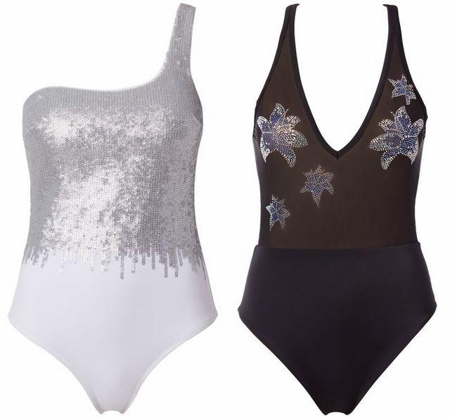 51c6e3fc4804 La colección incluye cinco bikinis y tres bañadores que tienen como  protagonistas los volantes y los colores neutros como el negro o el blanco.