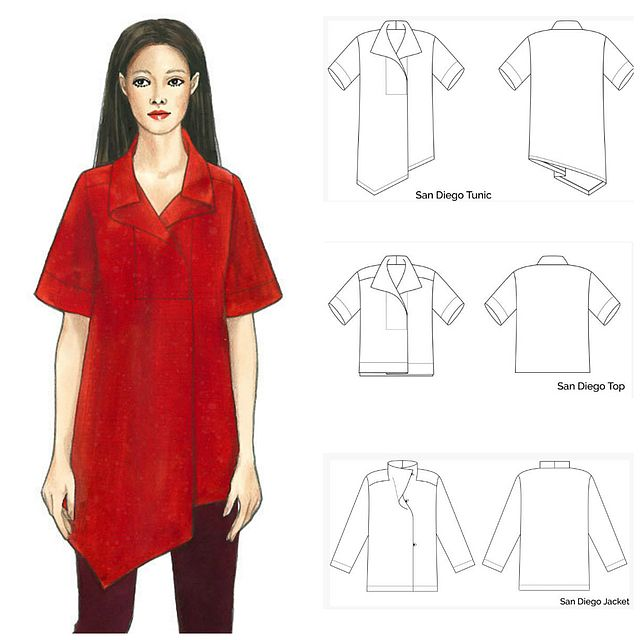 Pattern Review: The Sewing Workshop San Diego Tunic | Curvy Sewing ...