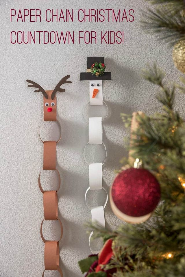How To Make A Paper Chain Christmas Countdown Calendar Craft