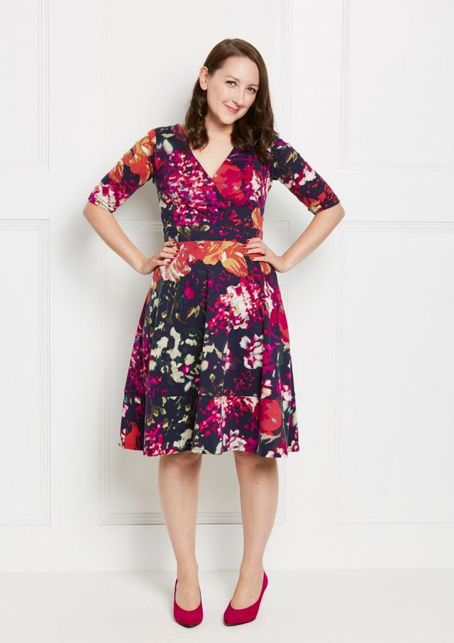 303b397d0cf Today I m sharing the Lena wrap dress by Simple Sew patterns. It came free  with Love Sewing 35 but is also available here. The surplice bodice is  lined and ...
