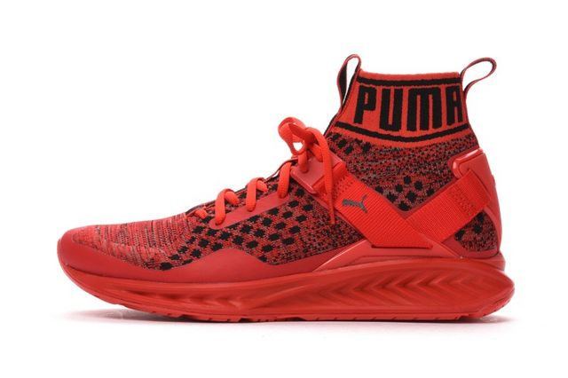 7b6336c53dc The PUMA Ignite evoKNIT Now Comes in Red