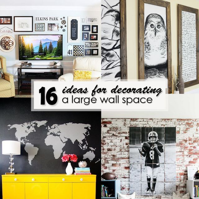 16 Ideas for Decorating a Large Wall Space | Pretty Handy ...
