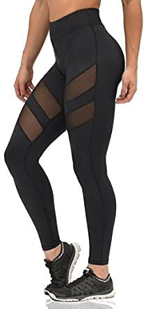 0fd272e50fc78 Mono B Women's Performance Activewear – Yoga Leggings with Sleek Contrast  Mesh Panels