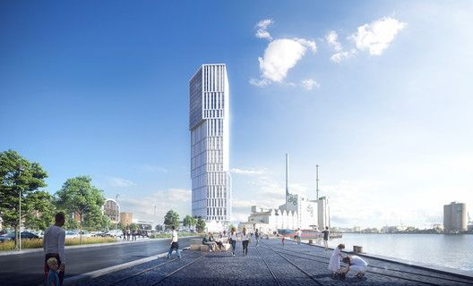 Madison Erects Giant Phallic Tower To >> C F Moller Architects Reveal Images Of Sculptural Landmark Tower