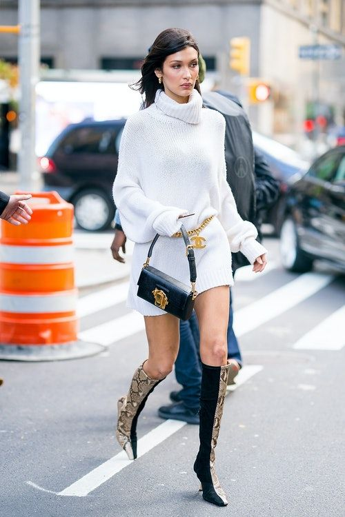 dba96076aaf43a Bella Hadid's Snakeskin Boots Are An Easy Way To Elevate Your Basics ...