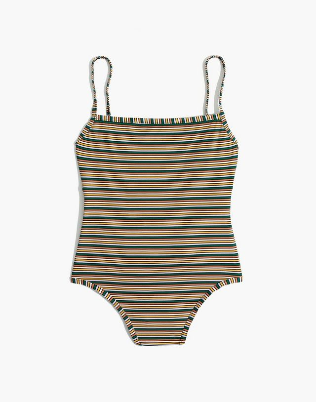 44a1fea279 Madewell Second Wave Ribbed Henley Bikini Top With a cut inspired by  classic henley shirts, this ribbed, recycled-plastic swim top has a casual  and cool ...