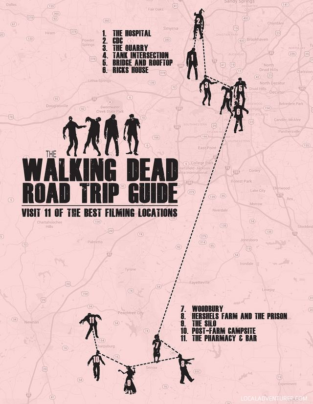 11 Best Walking Dead Locations (Self Guided Walking Dead Tour ... Newmar Canyon Star Wiring Diagram Ford Chis on