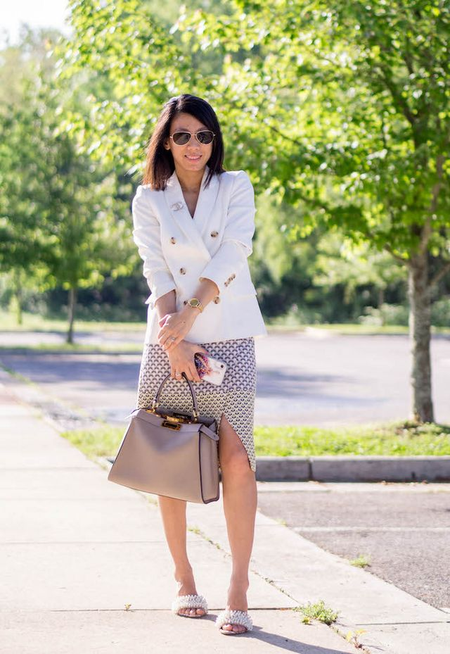 bcfc1b6068 Business Casual: Blazer & Wrap Skirt | to brighten my day | Bloglovin'