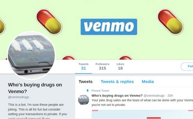 Twitterbot mines Venmo's public-by-default transactions and tweets