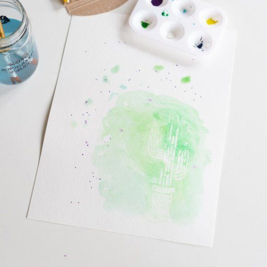 Wax Resist Watercolor Painting | Craft Gawker | Bloglovin'