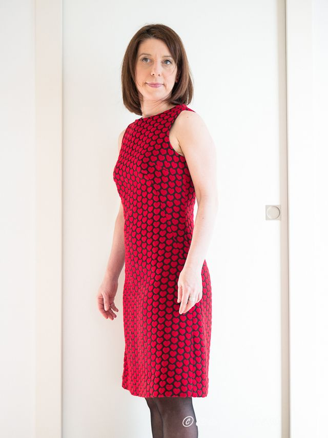15519d52ff86 But I can t lie to you…this dress was never planned to be a Valentine s day  dress…I just fell in love with this fabric when I saw it at Abilmente a  year and ...