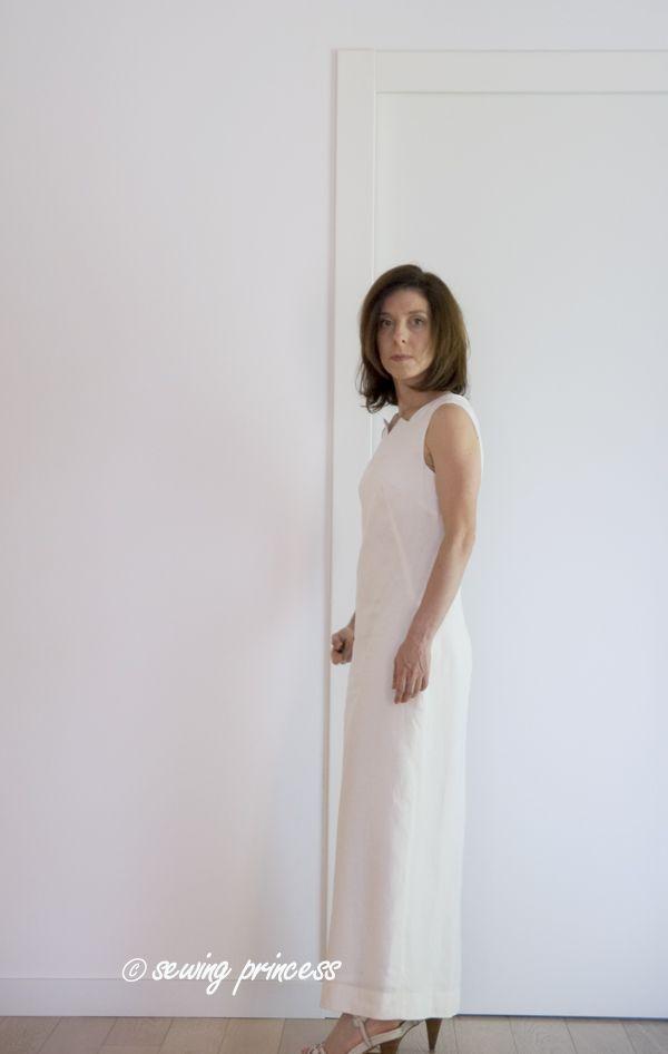 2f048533f38f 1609 Jiffy 1960 s Simplicity – Maxi Linen Dress